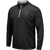 Colosseum Men's Coastal Carolina Chanticleers Embossed Quarter-Zip Performance Black Shirt