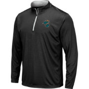 Colosseum Men's Coastal Carolina Chanticleers Embossed Quarter-Zip Performance Black Shirt