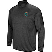 Colosseum Men's Coastal Carolina Chanticleers Grey Amnesia Quarter-Zip Shirt