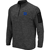 Colosseum Men's Duke Blue Devils Grey Quarter-Zip Shirt