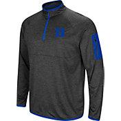Colosseum Men's Duke Blue Devils Grey Amnesia Quarter-Zip Shirt