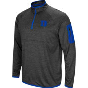 Colosseum Men's Duke Blue Devils Grey Amnesia Quarter-Zip Shirt