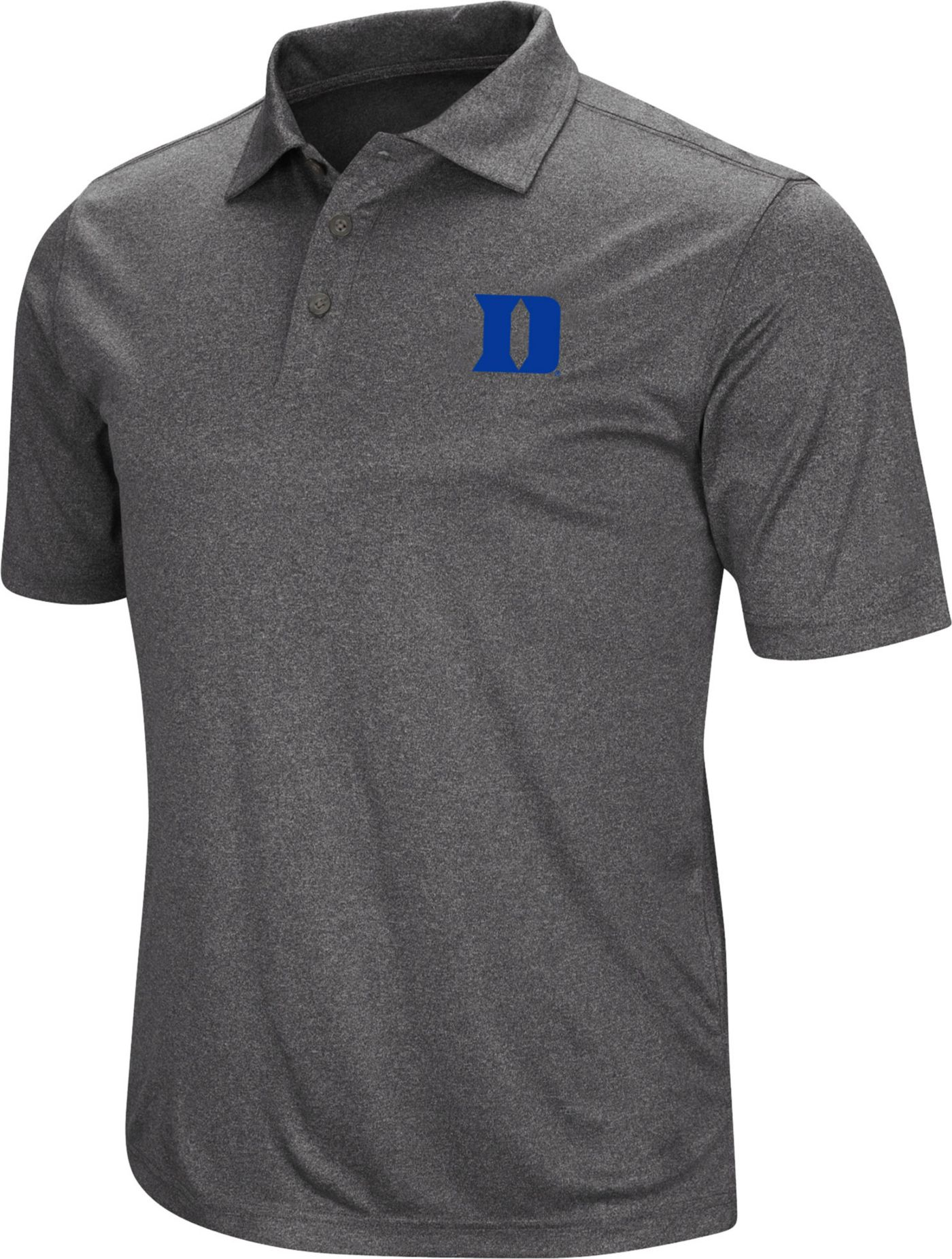 Colosseum Men's Duke Blue Devils Grey Polo