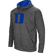 Colosseum Men's Duke Blue Devils Grey Fleece Pullover Hoodie