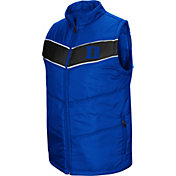 Colosseum Men's Duke Blue Devils Duke Blue Red Beaulieu Full-Zip Vest