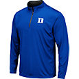 Colosseum Men's Duke Blue Devils Duke Blue Embossed Quarter-Zip Performance Shirt