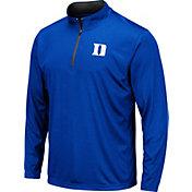 Colosseum Men's Duke Blue Devils Duke Blue Embossed Quarter-Zip Performance Shirt