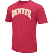 Colosseum Men's Denver Pioneers Crimson Dual Blend T-Shirt