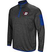 Colosseum Men's DePaul Blue Demons Grey Amnesia Quarter-Zip Shirt