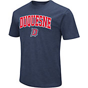 Colosseum Men's Duquesne Dukes Navy Dual Blend T-Shirt