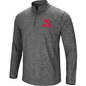 Colosseum Men's Dayton Flyers Grey Quarter-Zip Shirt
