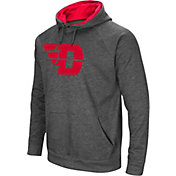 Colosseum Men's Dayton Flyers Grey Fleece Pullover Hoodie