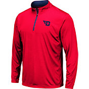Colosseum Men's Dayton Flyers Red Embossed Quarter-Zip Performance Shirt