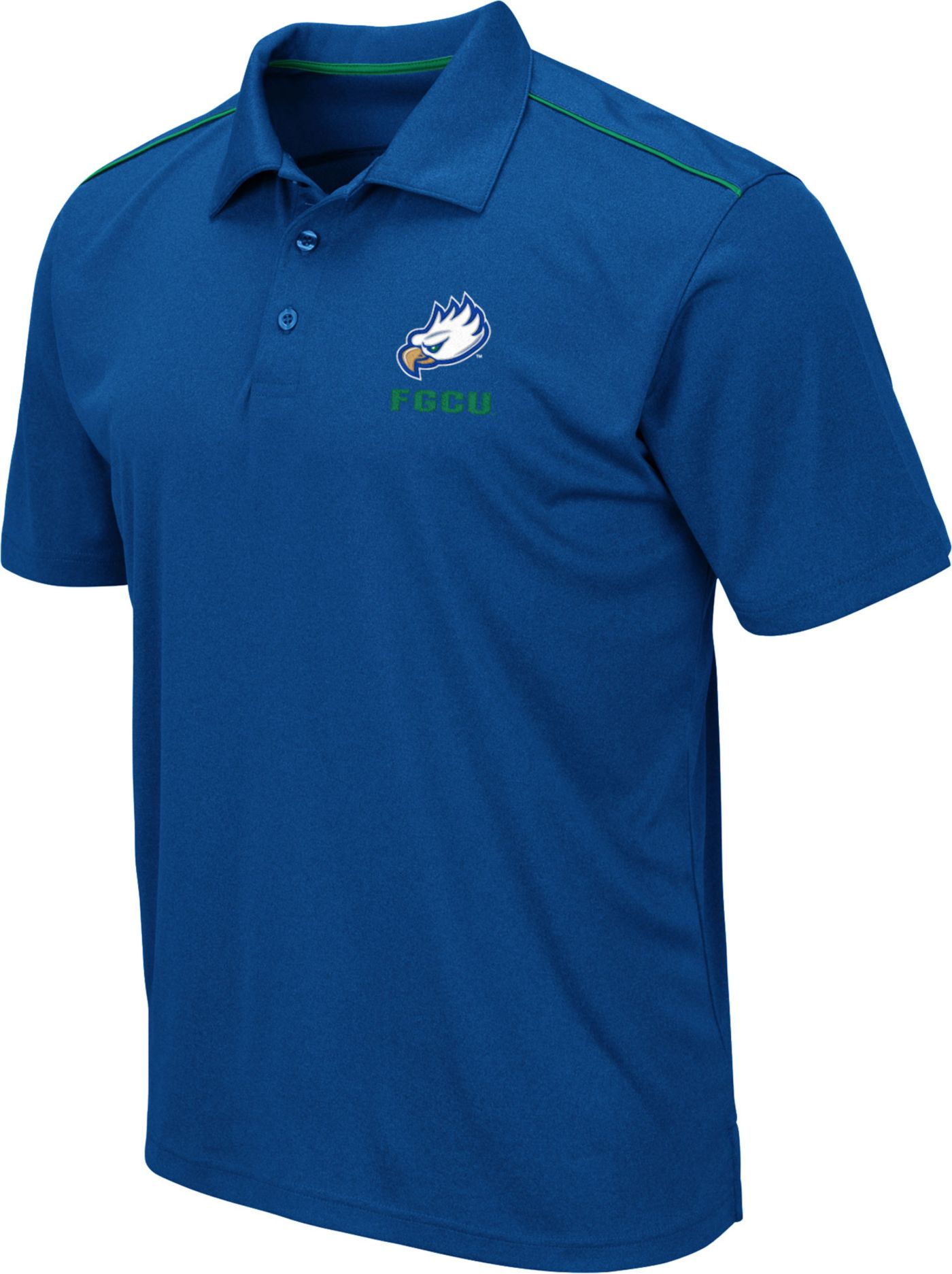 Colosseum Men's Florida Gulf Coast Eagles Cobalt Blue Eagle Polo