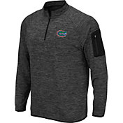 Colosseum Men's Florida Gators Grey Quarter-Zip Shirt