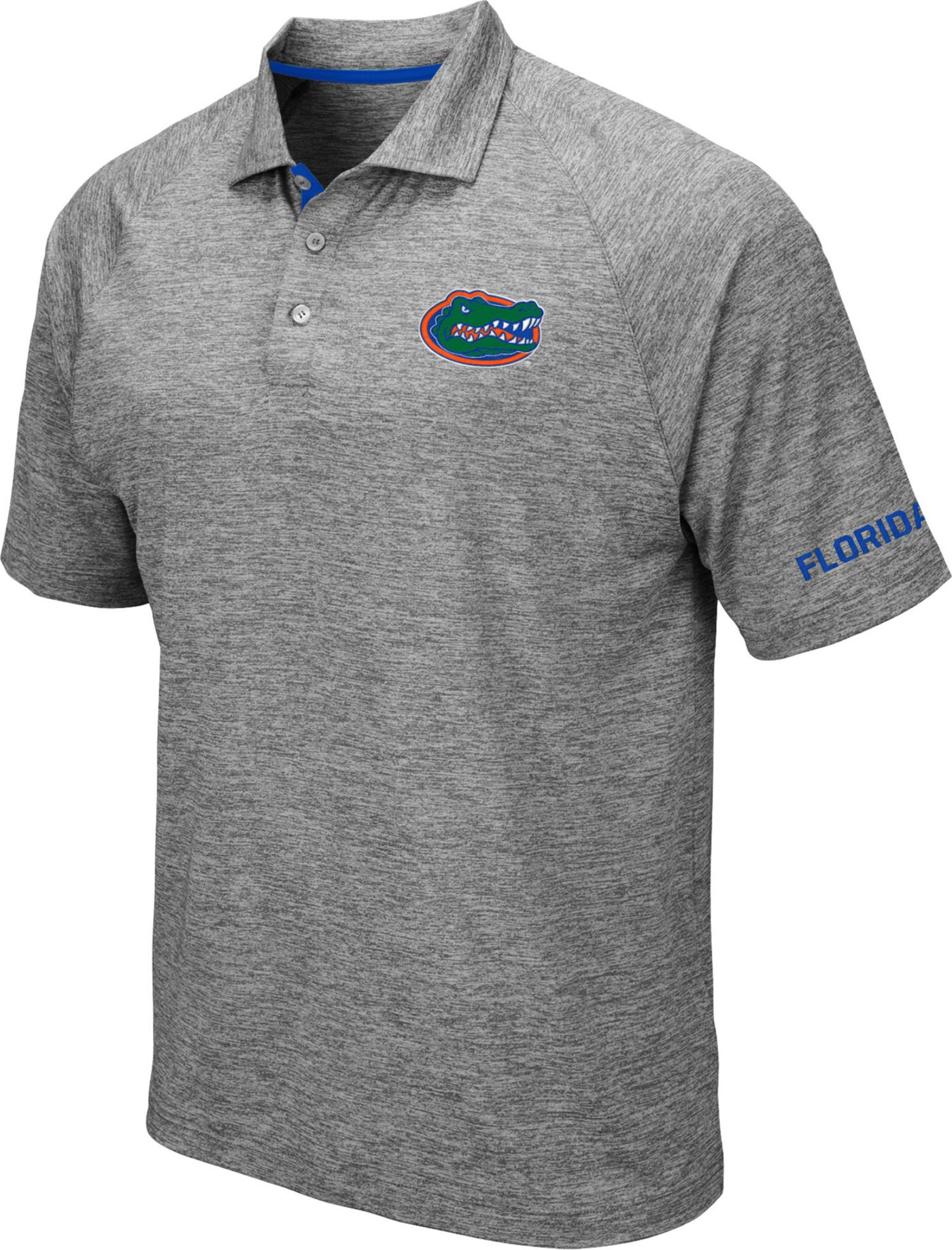 Colosseum Men's Florida Gators Grey Chip Shot Polo