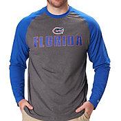 Colosseum Men's Florida Gators Grey/Blue Social Skills Long Sleeve Raglan T-Shirt
