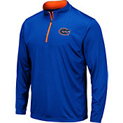 Colosseum Men's Florida Gators Blue Embossed Quarter-Zip Performance Shirt