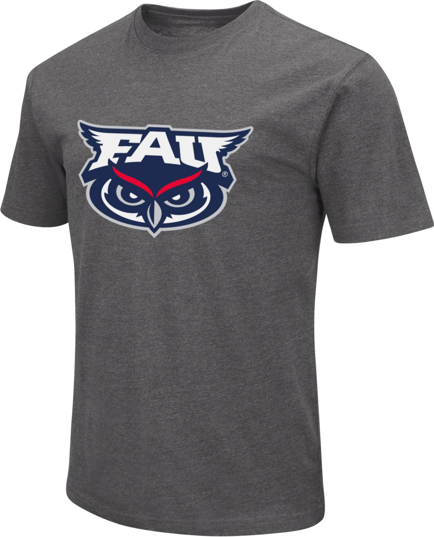 Colosseum Men's Florida Atlantic Owls Grey Dual Blend T-Shirt