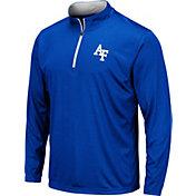 Colosseum Men's Air Force Falcons Blue Embossed Quarter-Zip Performance Shirt