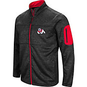 Colosseum Men's Fresno State Bulldogs Glacier Full-Zip Black Jacket