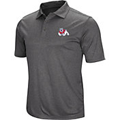 Colosseum Men's Fresno State Bulldogs Grey Polo