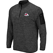 Colosseum Men's Fresno State Bulldogs Grey Quarter-Zip Shirt