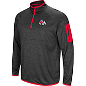 Colosseum Men's Fresno State Bulldogs Grey Amnesia Quarter-Zip Shirt
