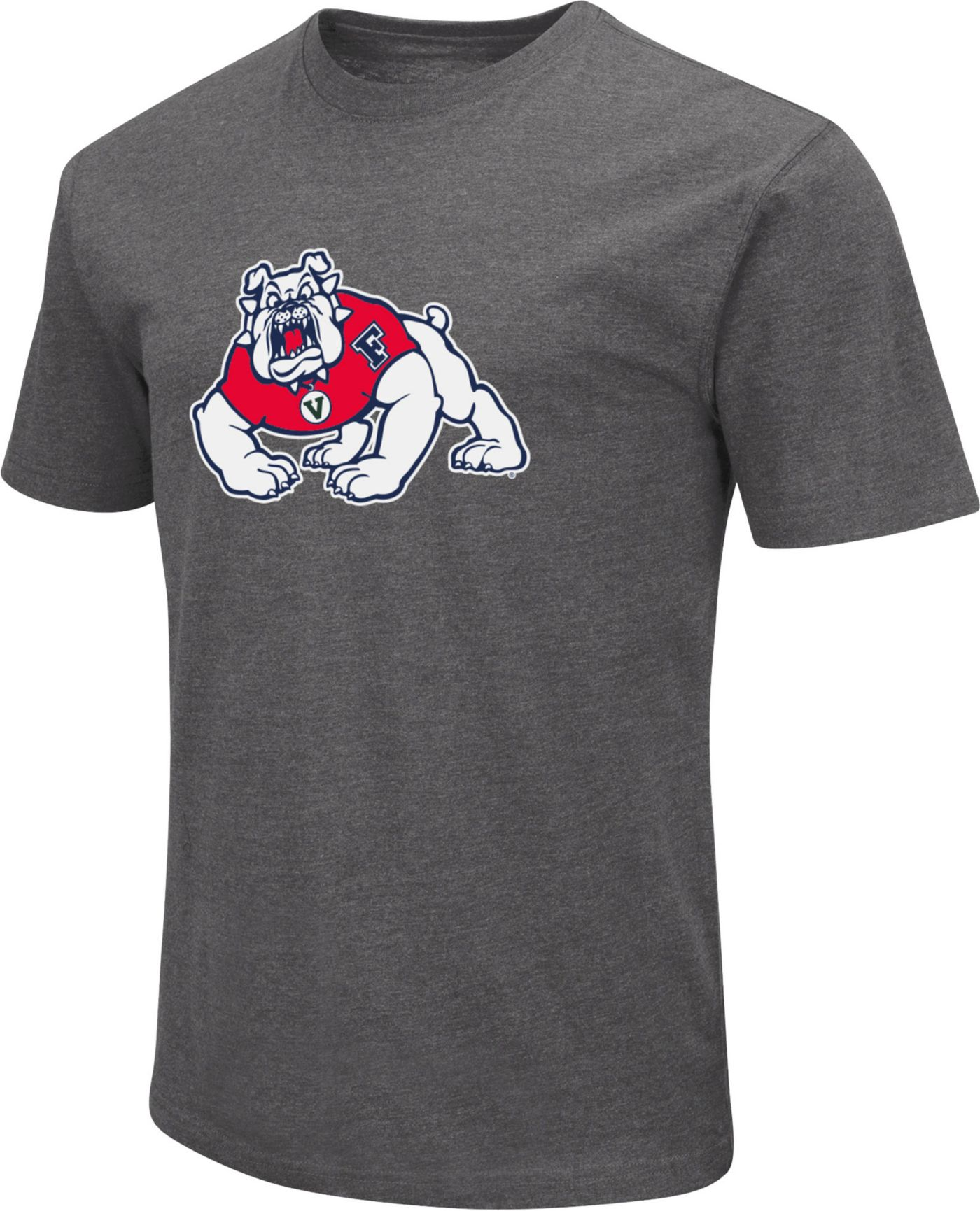 Colosseum Men's Fresno State Bulldogs Grey Dual Blend T-Shirt