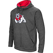 Colosseum Men's Fresno State Bulldogs Grey Fleece Pullover Hoodie
