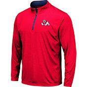 Colosseum Men's Fresno State Bulldogs Cardinal Embossed Quarter-Zip Performance Shirt