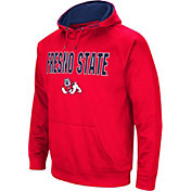 Colosseum Men's Fresno State Bulldogs Cardinal Fleece Pullover Hoodie