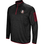 Colosseum Men's Florida State Seminoles Amnesia Quarter-Zip Black Shirt
