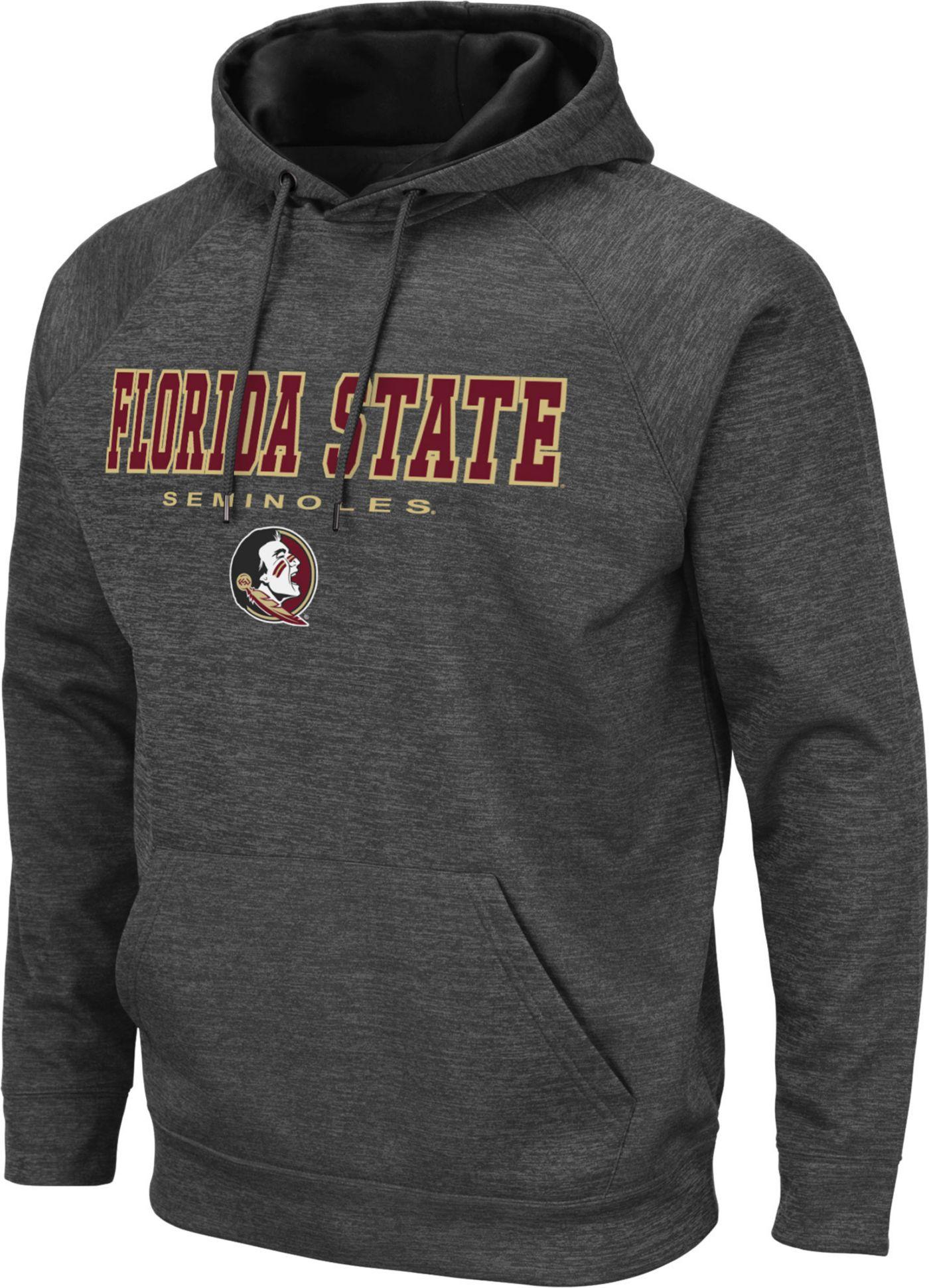 Colosseum Men's Florida State Seminoles Grey Pullover Hoodie
