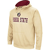 Colosseum Men's Florida State Seminoles Gold Fleece Pullover Hoodie