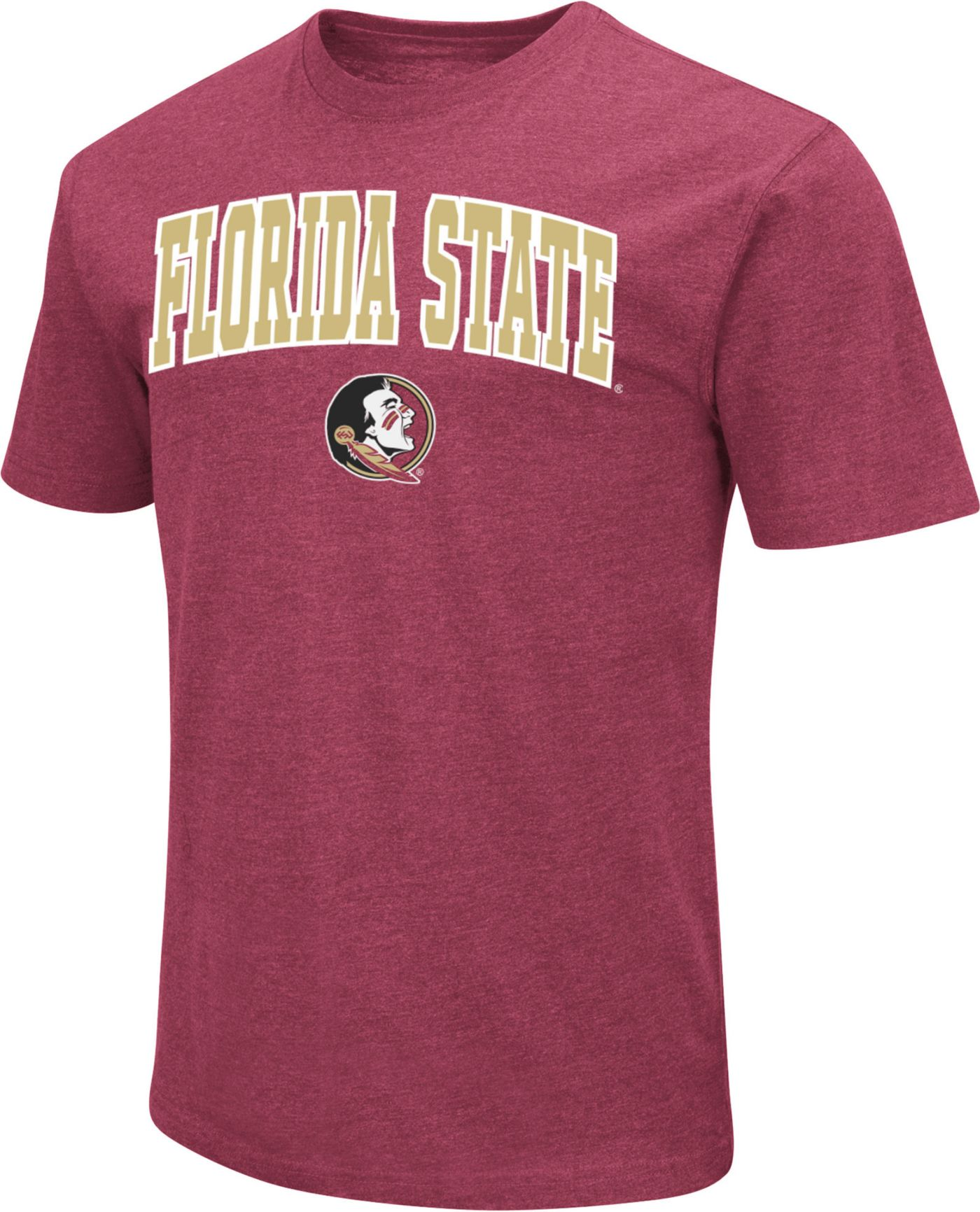 Colosseum Men's Florida State Seminoles Garnet Dual Blend T-Shirt