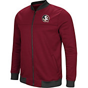 Colosseum Men's Florida State Seminoles Garnet Sack The QB Full-Zip Bomber Jacket