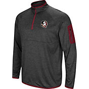 Colosseum Men's Florida State Seminoles Grey Amnesia Quarter-Zip Shirt