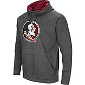 Colosseum Men's Florida State Seminoles Grey Fleece Pullover Hoodie