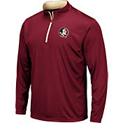 Colosseum Men's Florida State Seminoles Garnet Embossed Quarter-Zip Performance Shirt