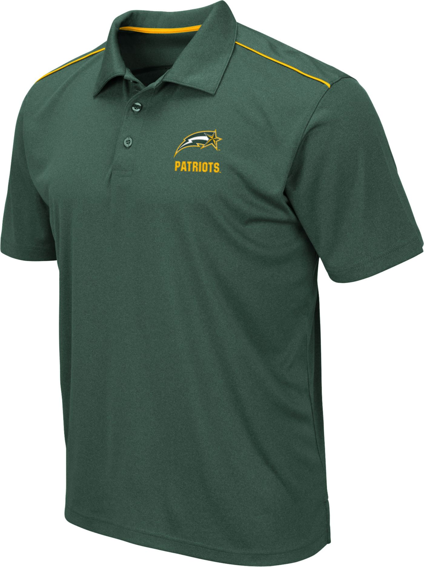 Colosseum Men's George Mason Patriots Green Eagle Polo