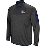 Colosseum Men's Gonzaga Bulldogs Grey Amnesia Quarter-Zip Shirt