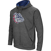 Colosseum Men's Gonzaga Bulldogs Grey Fleece Pullover Hoodie