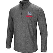 Colosseum Men's Gonzaga Bulldogs Grey Action Pass Quarter-Zip Shirt