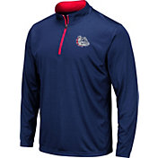 Colosseum Men's Gonzaga Bulldogs Blue Embossed Quarter-Zip Performance Shirt