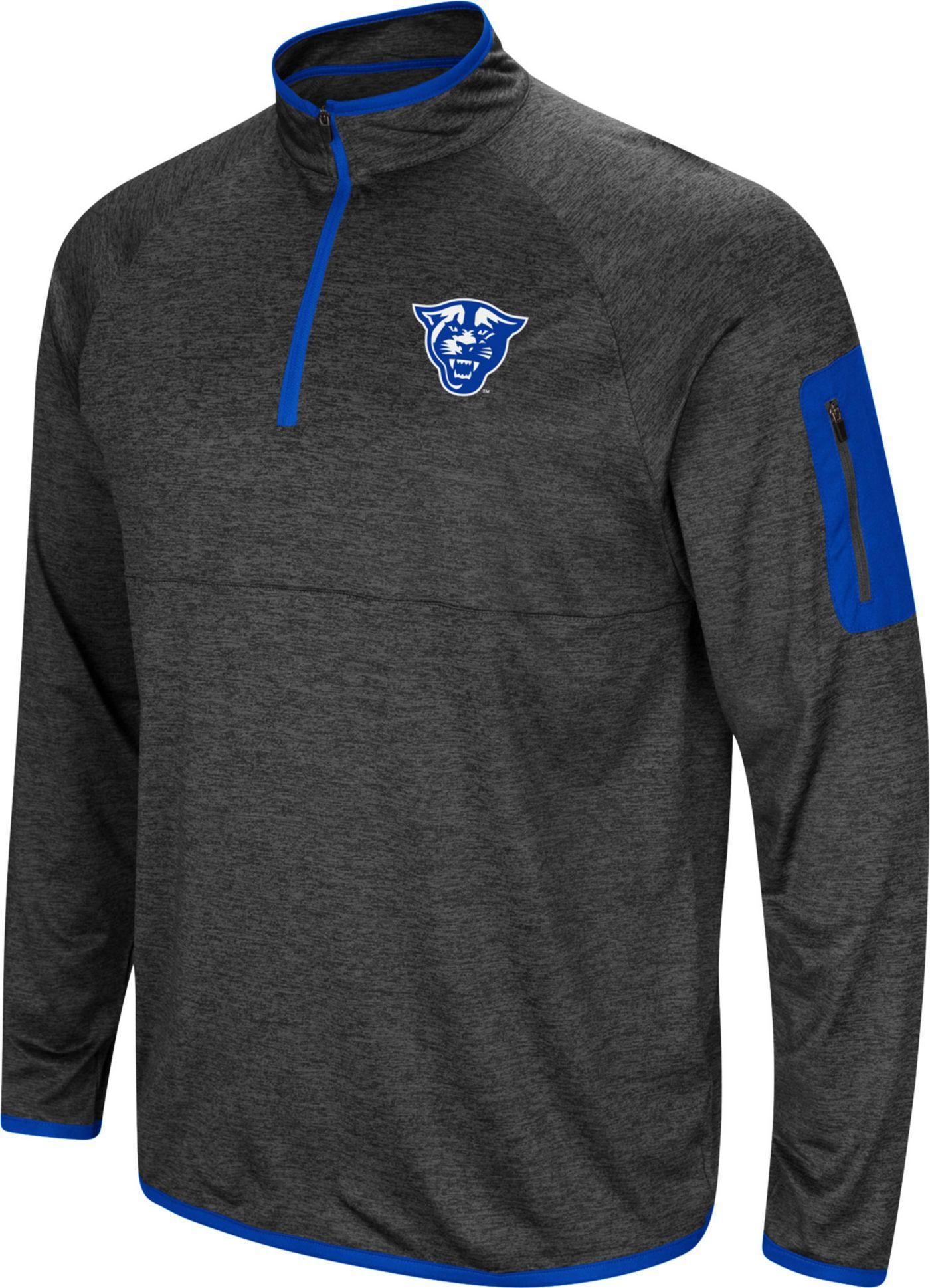 cheap for discount 8d3d6 dfd9b Colosseum Men's Georgia State Panthers Grey Amnesia Quarter-Zip Shirt