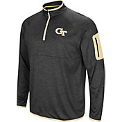 Colosseum Men's Georgia Tech Yellow Jackets Grey Amnesia Quarter-Zip Shirt