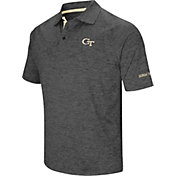 Colosseum Men's Georgia Tech Yellow Jackets Grey Cut Shot Polo