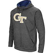 Colosseum Men's Georgia Tech Yellow Jackets Grey Fleece Pullover Hoodie
