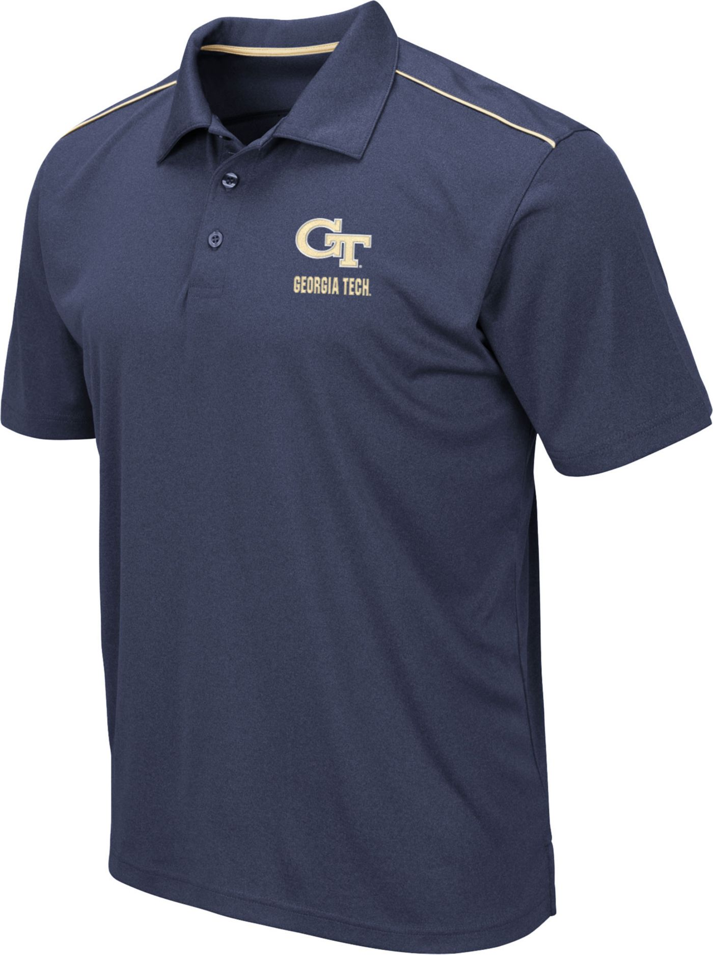 Colosseum Men's Georgia Tech Yellow Jackets Navy Eagle Polo